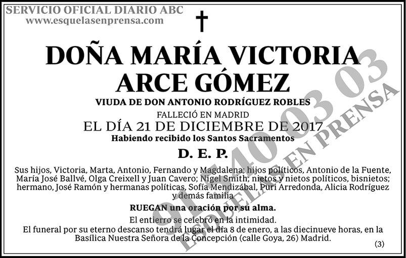 María Victoria Arce Gómez